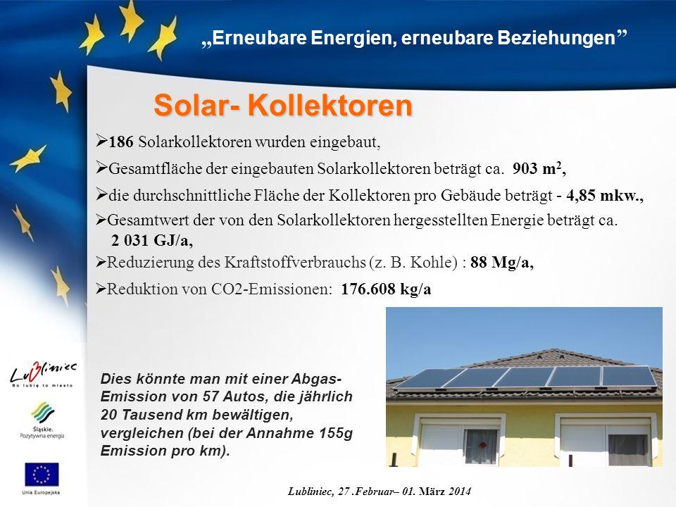 """ Erneubare Energien, erneubare Beziehungen Lubliniec, 27.Februar– 01."