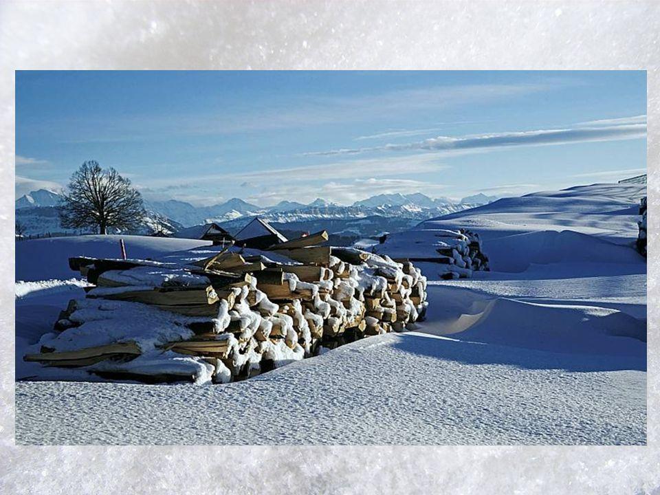Rundum ist es still und leise, nur der Schnee bei jedem Schritt knirscht eine sehr bekannte Weise und diese geht ganz einfach mit.