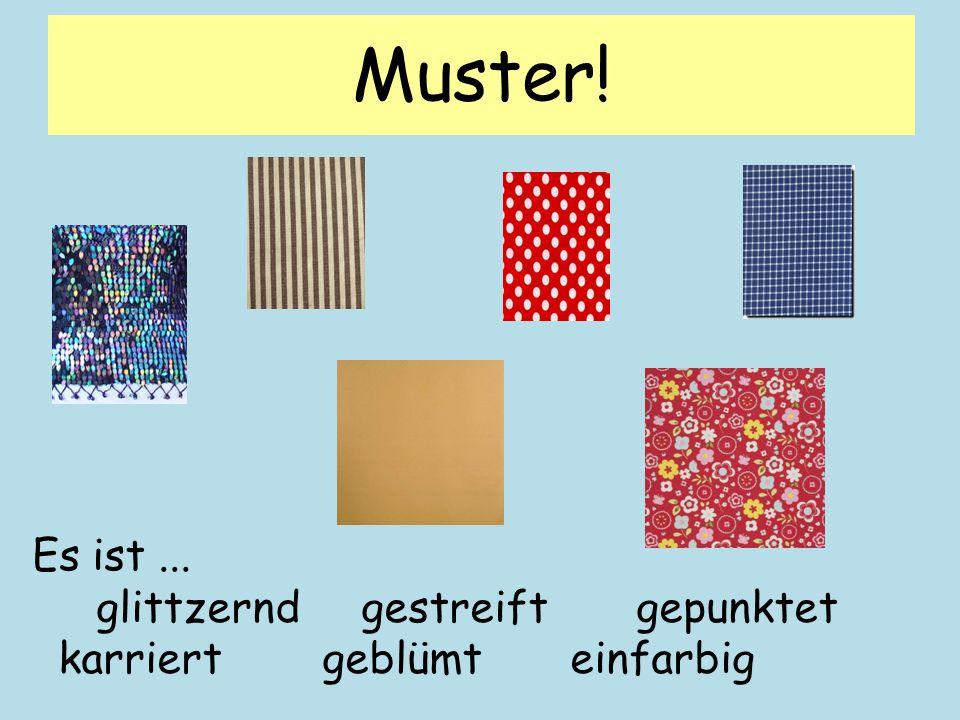 Muster! gestreiftkariert glitzerndgepunktet 1 234