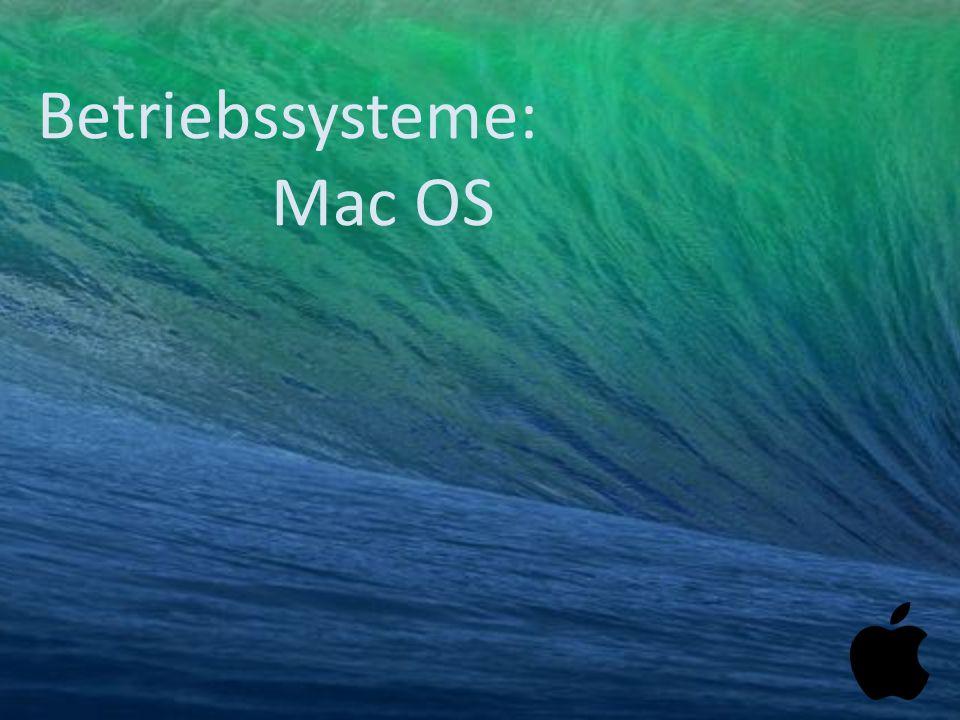 Betriebssysteme: Mac OS