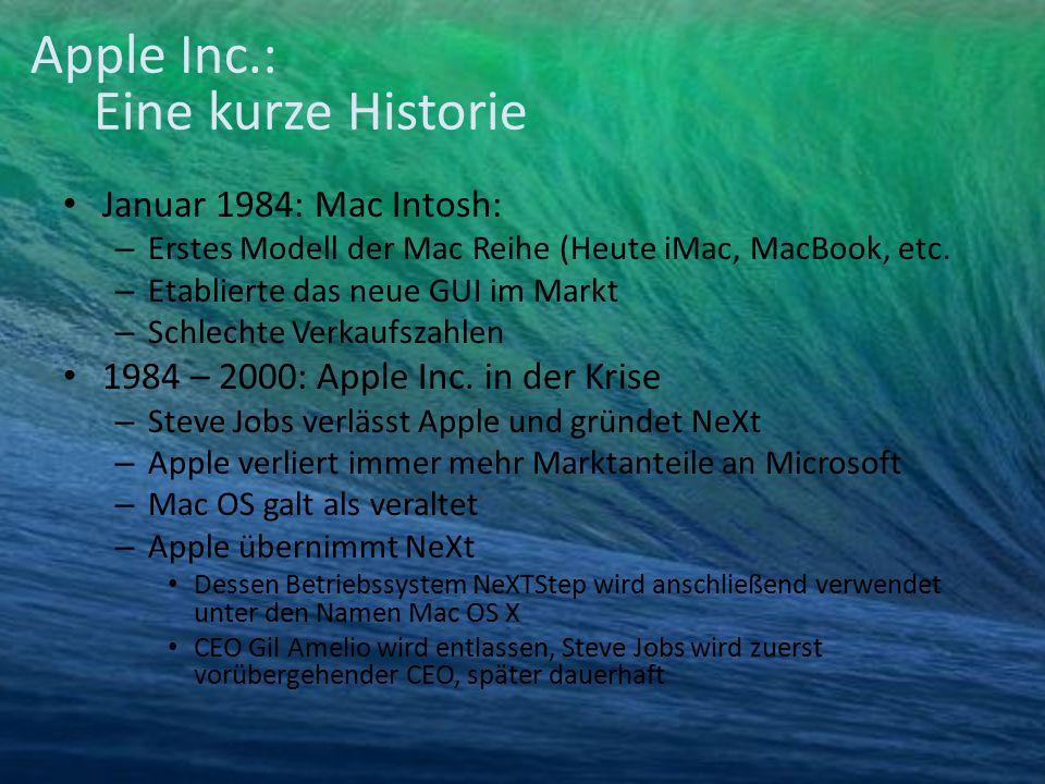 Januar 1984: Mac Intosh: – Erstes Modell der Mac Reihe (Heute iMac, MacBook, etc. – Etablierte das neue GUI im Markt – Schlechte Verkaufszahlen 1984 –
