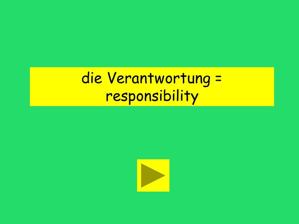 Was ist Ihre grösste Verantwortung talking point responsibilityanswer