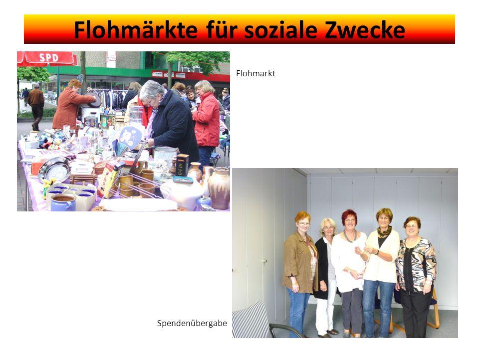 Flohmärkte für soziale Zwecke Flohmarkt Spendenübergabe