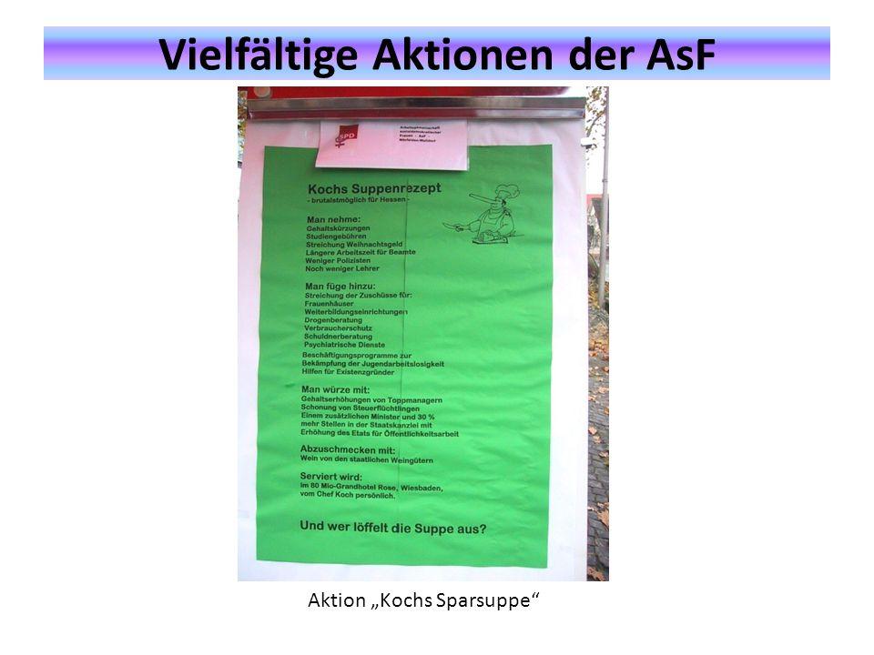 """Vielfältige Aktionen der AsF Aktion """"Kochs Sparsuppe"""