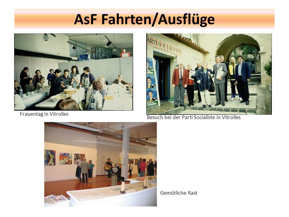 AsF Fahrten/Ausflüge Frauentag in Vitrolles Besuch bei der Parti Socialiste in Vitrolles Gemütliche Rast