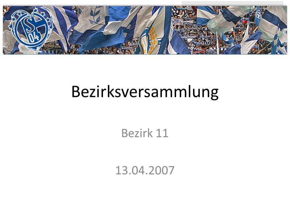 Bezirksversammlung Bezirk 11 13.04.2007