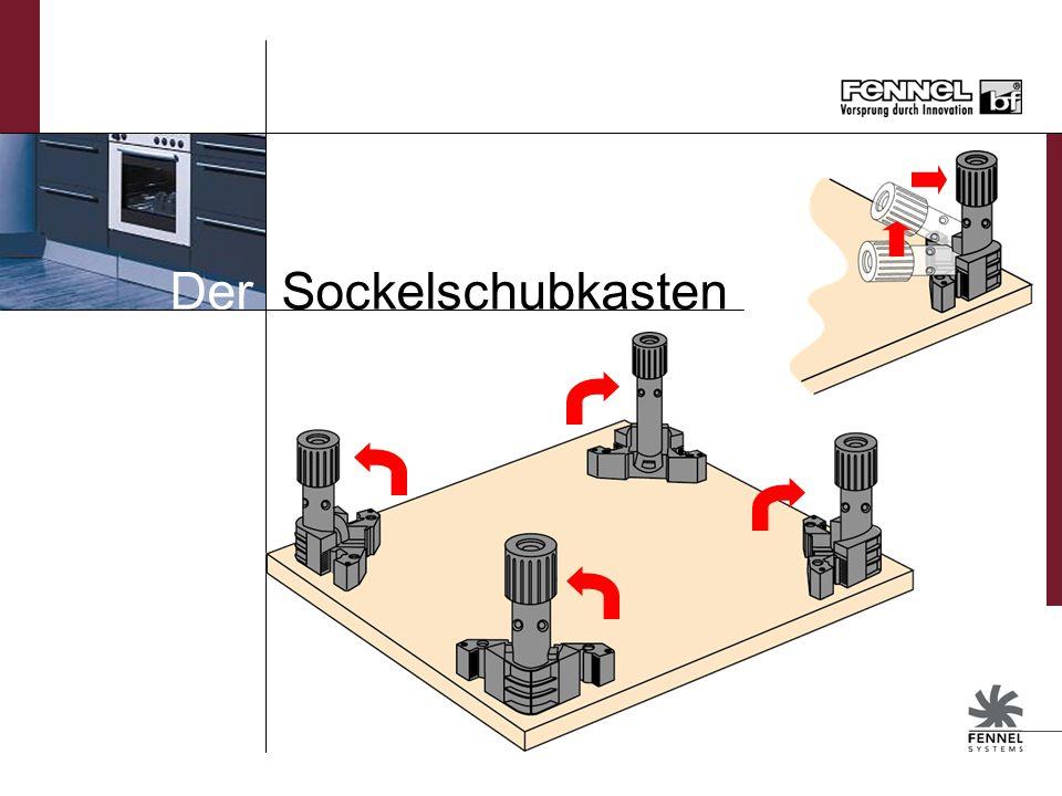 Sockelschubkasten für Unterschränke Sockelhöhe: 150 – 200 mm