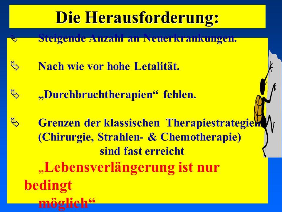"""03.05.2001 17.00 Uhr s.t. Potsdam: 16.06.2001 GEHE  Steigende Anzahl an Neuerkrankungen.  Nach wie vor hohe Letalität.  """"Durchbruchtherapien"""" fehle"""