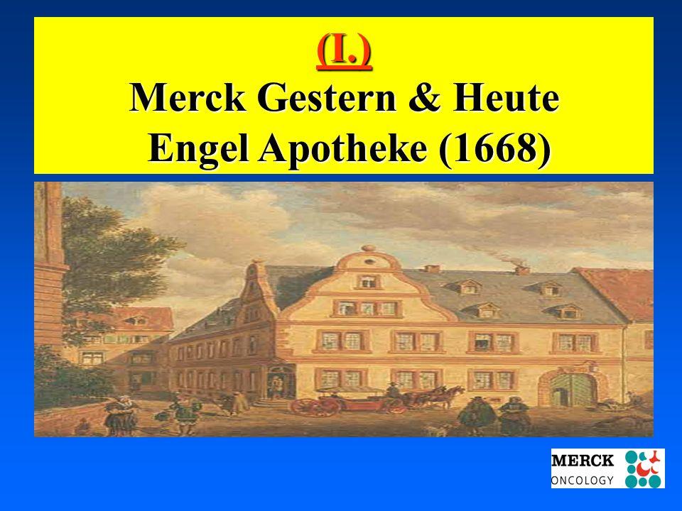 03.05.2001 17.00 Uhr s.t. Potsdam: 16.06.2001 GEHE (I.) Merck Gestern & Heute Engel Apotheke (1668) Engel Apotheke (1668)