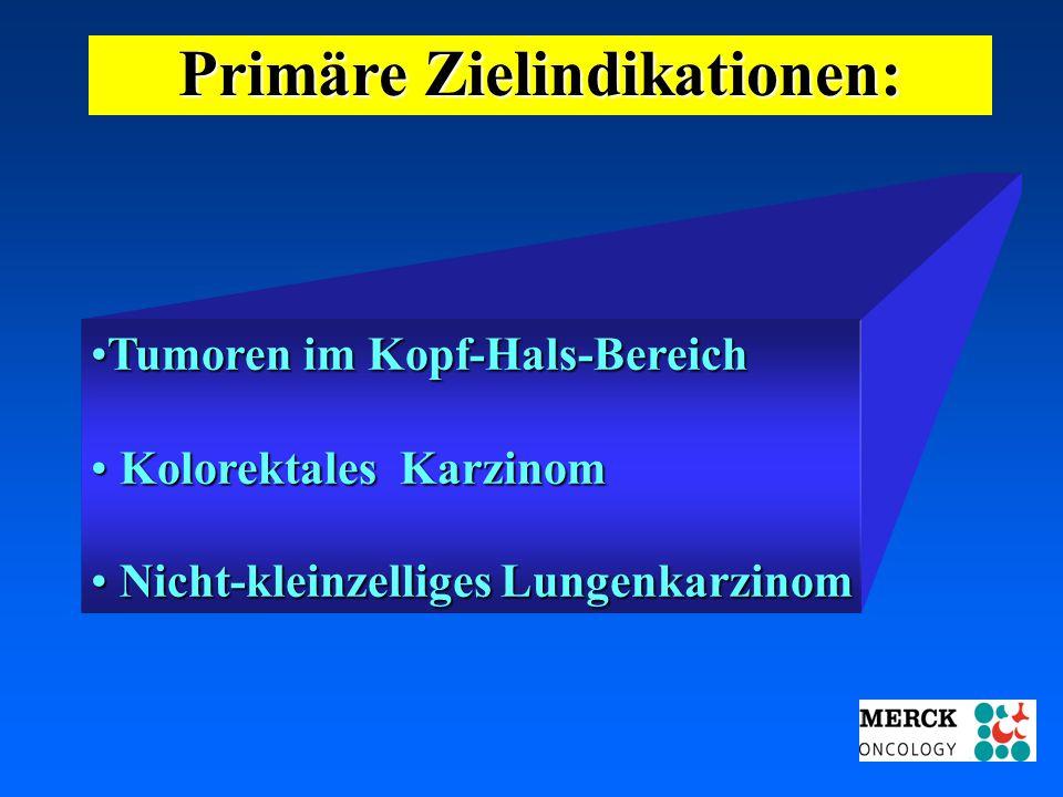 03.05.2001 17.00 Uhr s.t. Potsdam: 16.06.2001 GEHE Primäre Zielindikationen: Tumoren im Kopf-Hals-BereichTumoren im Kopf-Hals-Bereich Kolorektales Kar