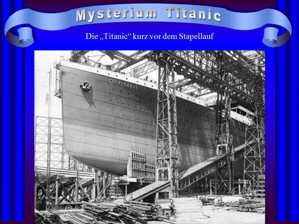 """Die """"Titanic"""" kurz vor dem Stapellauf"""