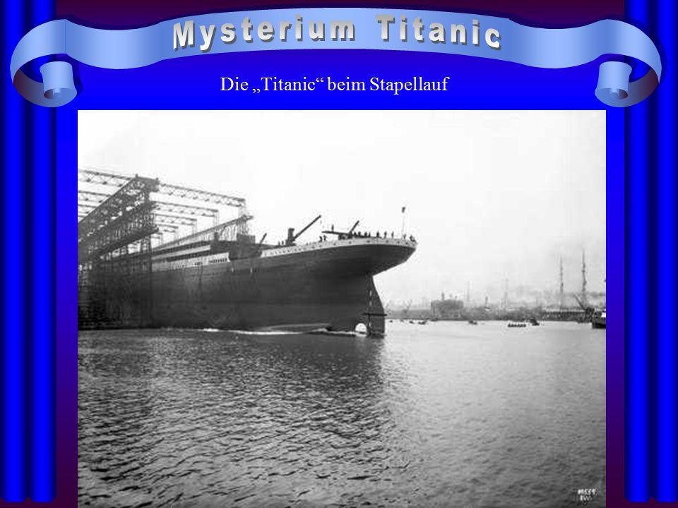 """Die """"Titanic beim Ende des Stapellaufs"""