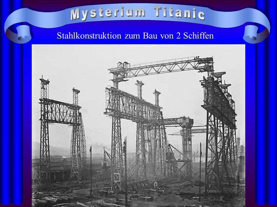 Stahlkonstruktion zum Bau von 2 Schiffen