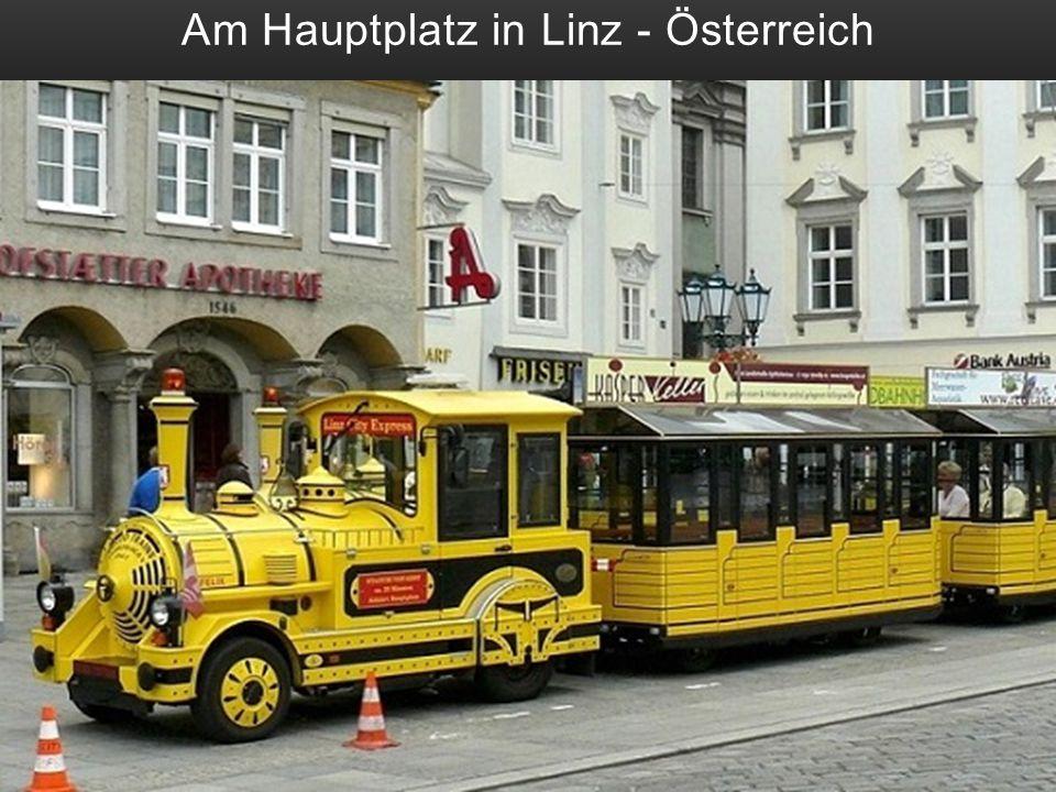 Am Hauptplatz in Linz - Österreich