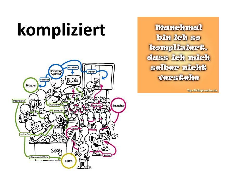 kompliziert