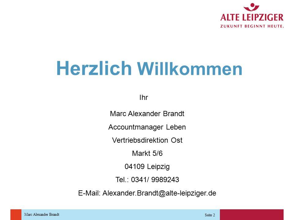 """Marc Alexander Brandt Seite 3 """"Top-Anbieter in der BU-Versicherung ist und bleibt nach Ansicht der Makler die Alte Leipziger Lebensversicherung a.G., auf die deutlich mehr als ein Viertel der Nennungen entfiel. Alte Leipziger Lebensversicherung a.G."""