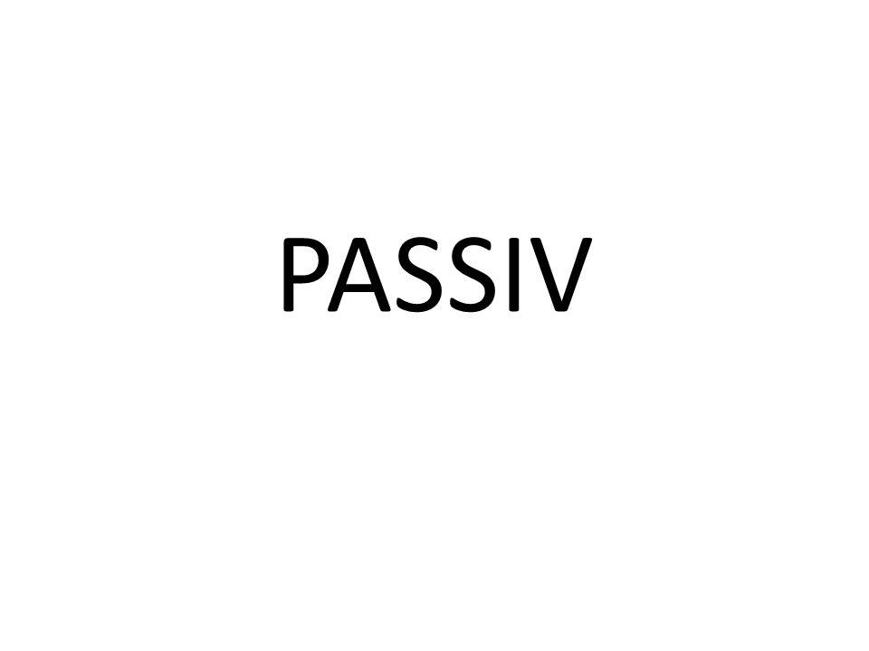 Bildung: Partizip Perfekt Objekat aktivne postaje subjekat pasivne recenice i samim tim prelazi u nominativ.
