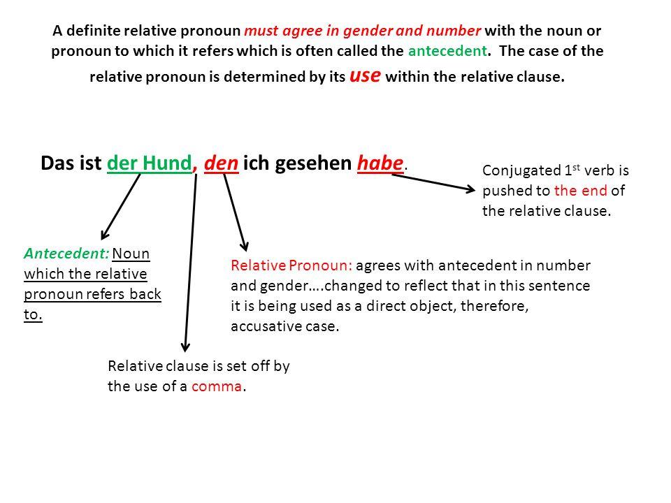 Wann ist ein Wort nominativ.1) It is the subject of a sentence.