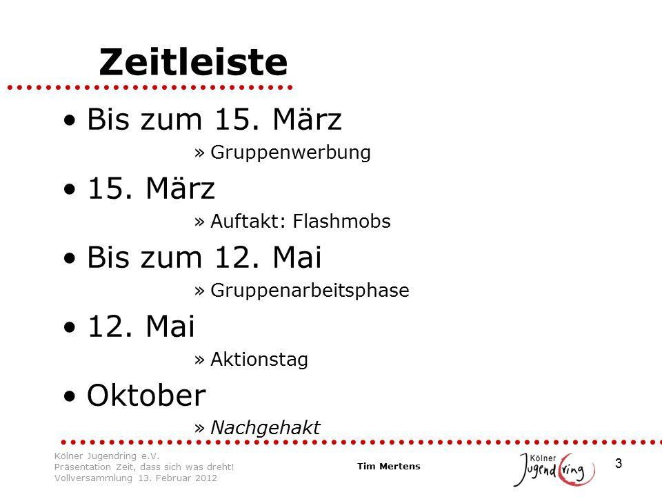 4 Flashmobs Zentraler: –Domplatte –Theater abgelehnt –Chor: Zeit, dass sich was dreht.