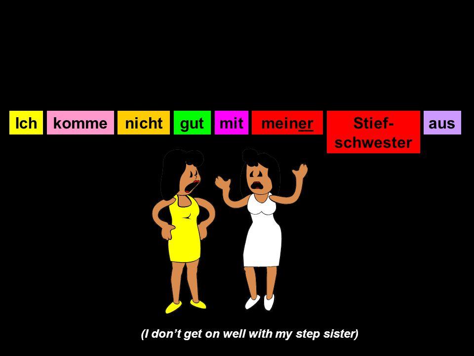 IchkommegutmitmeinerStief- schwester ausnicht (I don't get on well with my step sister)