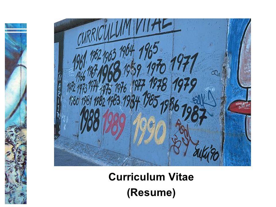 Title Curriculum Vitae (Resume)