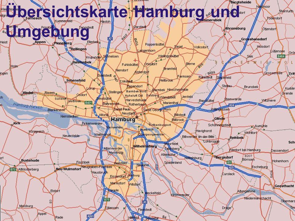 6 Übersichtskarte Hamburg und Umgebung