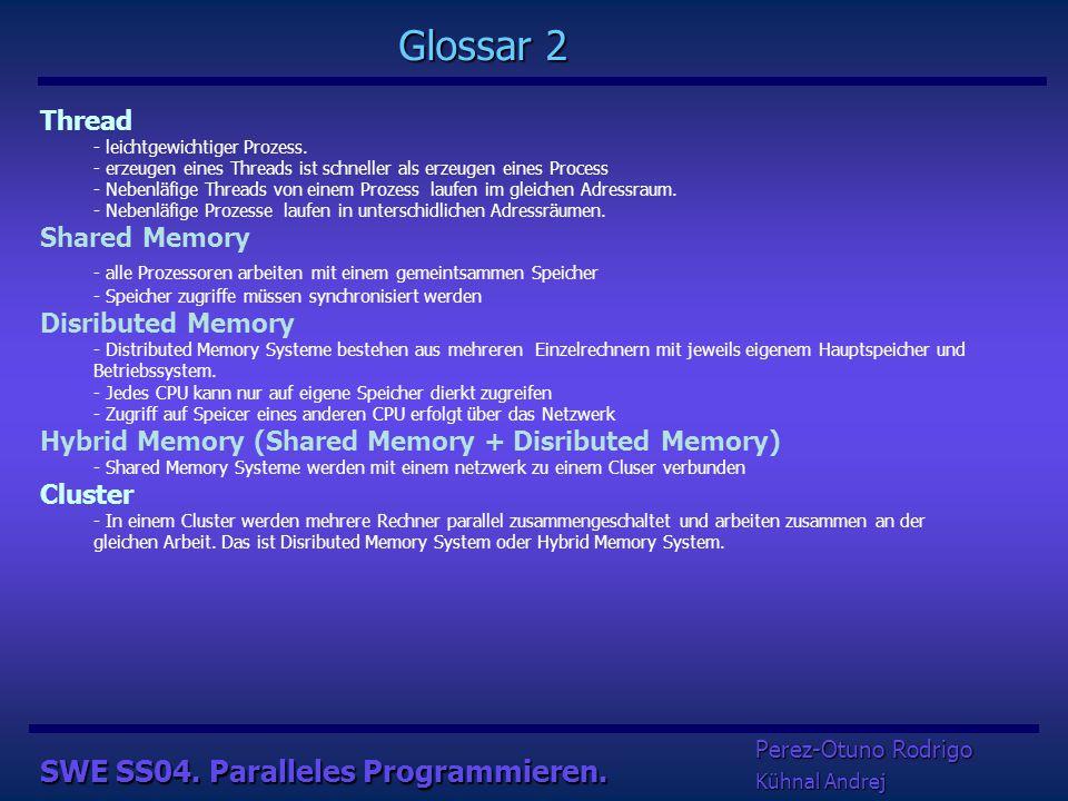 SWE SS04. Paralleles Programmieren.