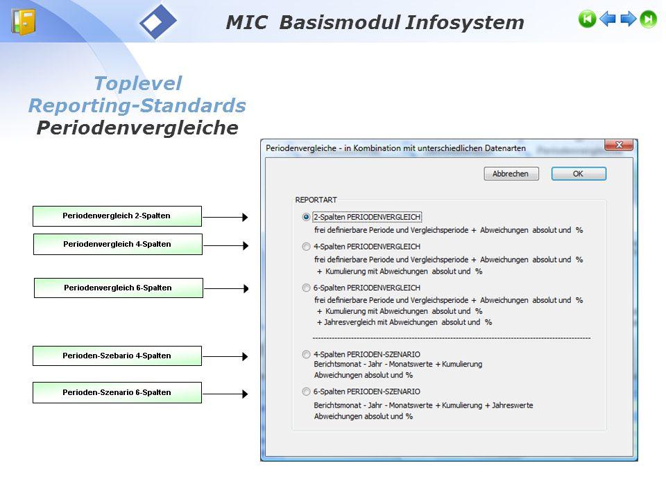 Toplevel Reporting-Standards Periodenvergleich PV2