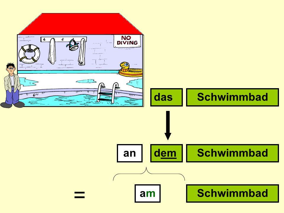 andem dasSchwimmbad amam =