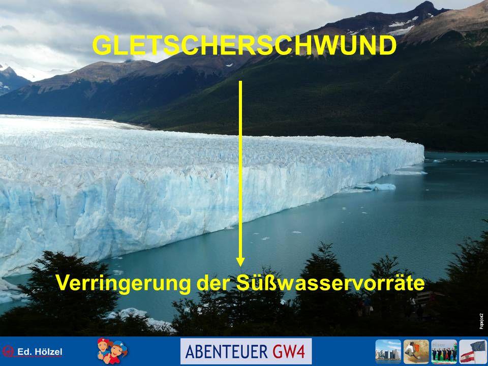 Popejon2 GLETSCHERSCHWUND Verringerung der Süßwasservorräte