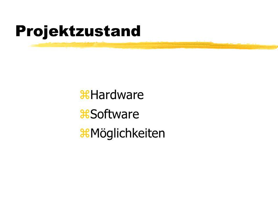 Projektzustand zHardware zSoftware zMöglichkeiten