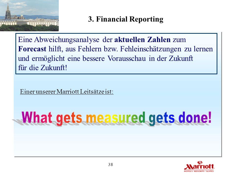 38 3. Financial Reporting Eine Abweichungsanalyse der aktuellen Zahlen zum Forecast hilft, aus Fehlern bzw. Fehleinschätzungen zu lernen und ermöglich
