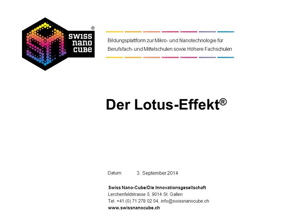 Datum: Swiss Nano-Cube/Die Innovationsgesellschaft Lerchenfeldstrasse 5, 9014 St. Gallen Tel. +41 (0) 71 278 02 04, info@swissnanocube.ch www.swissnan