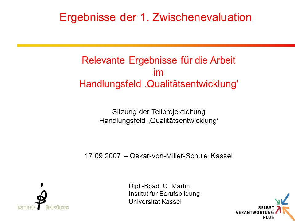 Prozessevaluation - 1.