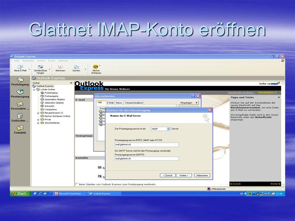 Glattnet IMAP-Konto eröffnen