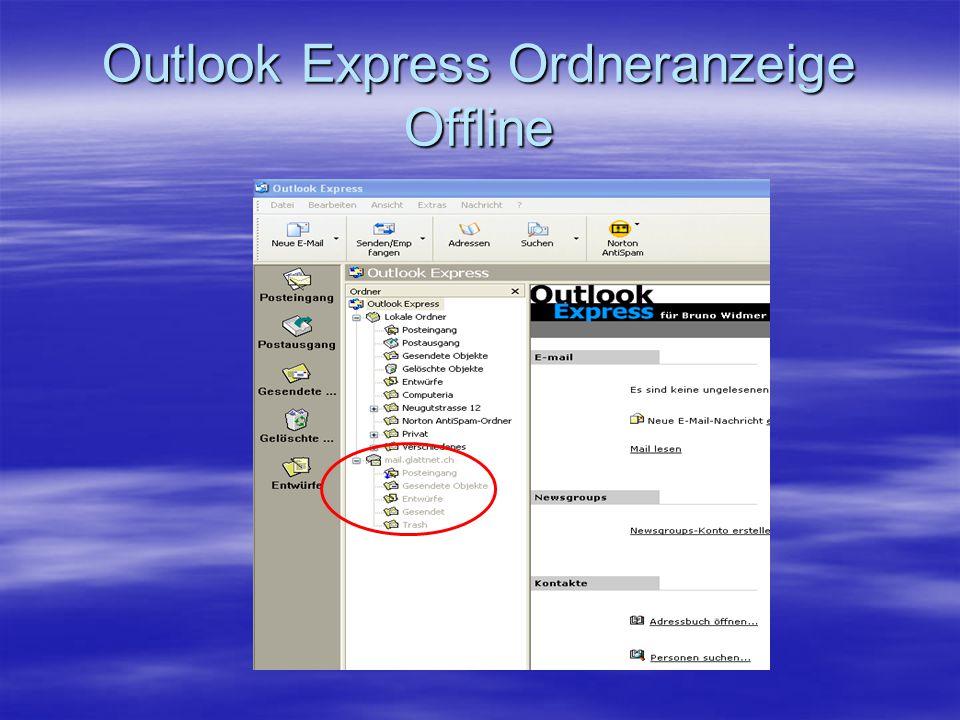 Outlook Express Ordneranzeige Offline