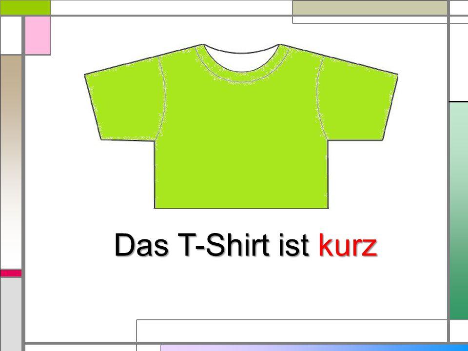 Das T-Shirt ist kurz