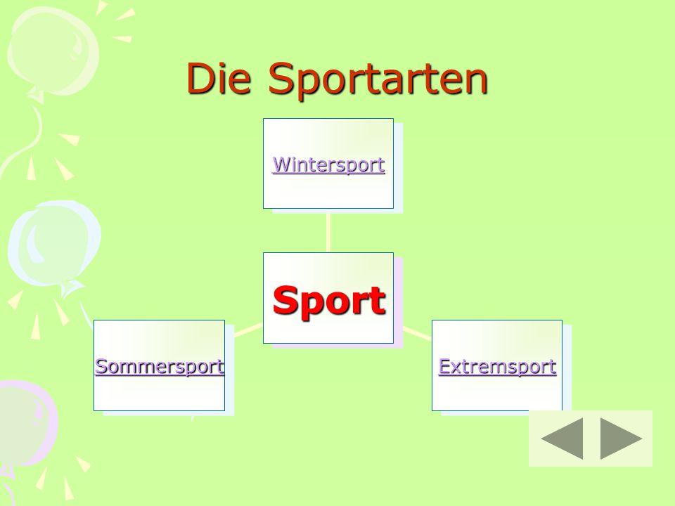 Die Sportarten Sport Wintersport Extremsport Sommersport