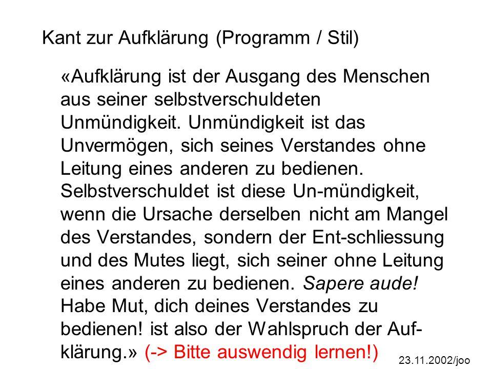 23.11.2002/joo Ergebnisse Briefing: Staat Was soll der Staat.