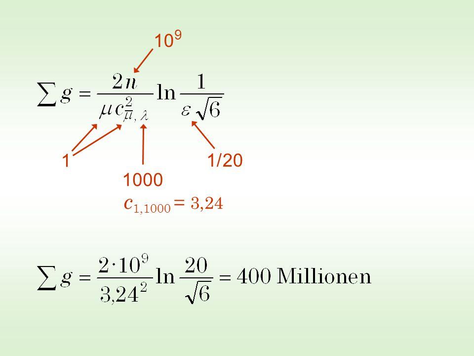 Optimales Verhältnis  zu : Für >>1 ist ?