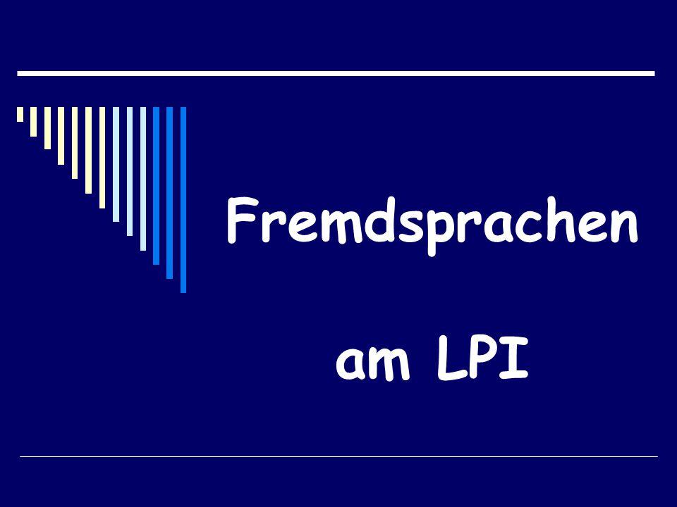 Fremdsprachen am LPI