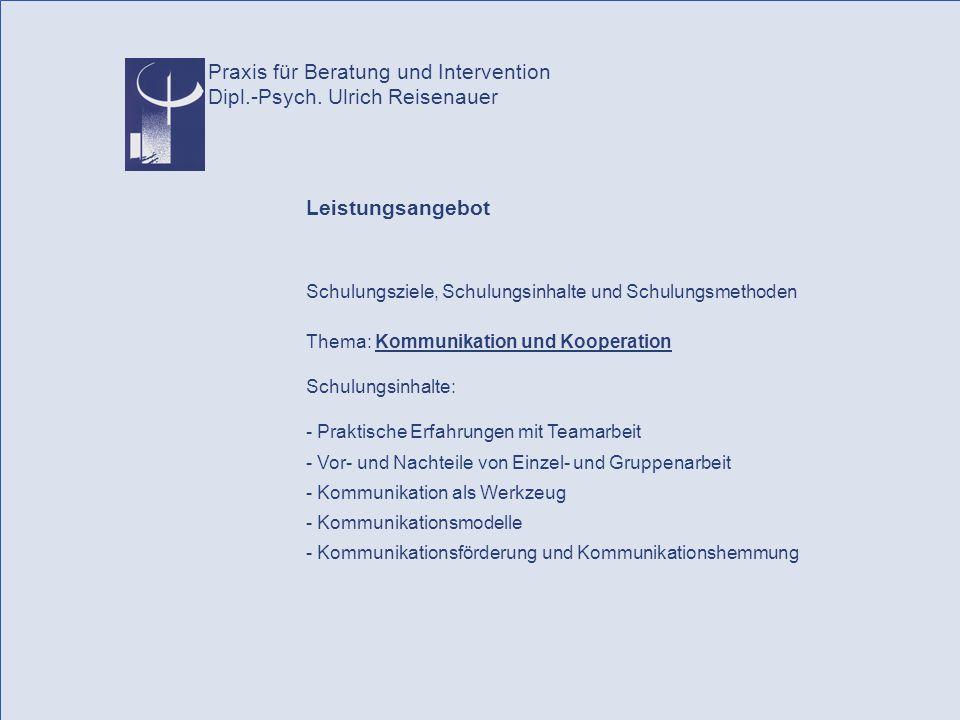 Praxis für Beratung und Intervention Dipl.-Psych.