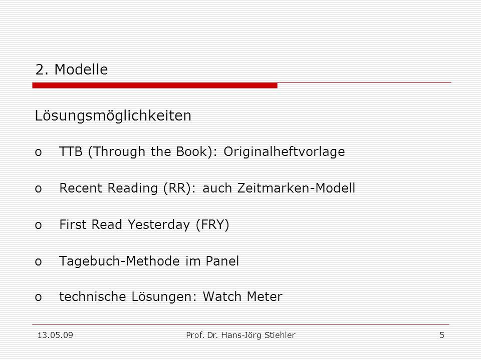 13.05.09Prof.Dr. Hans-Jörg Stiehler5 2.