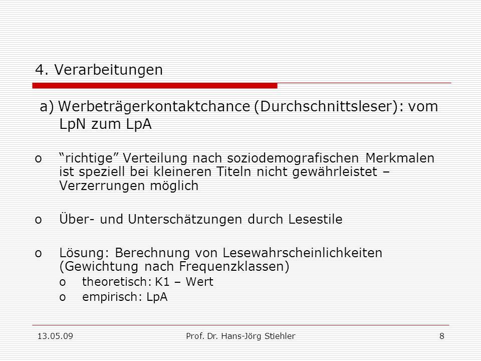13.05.09Prof.Dr. Hans-Jörg Stiehler8 4.