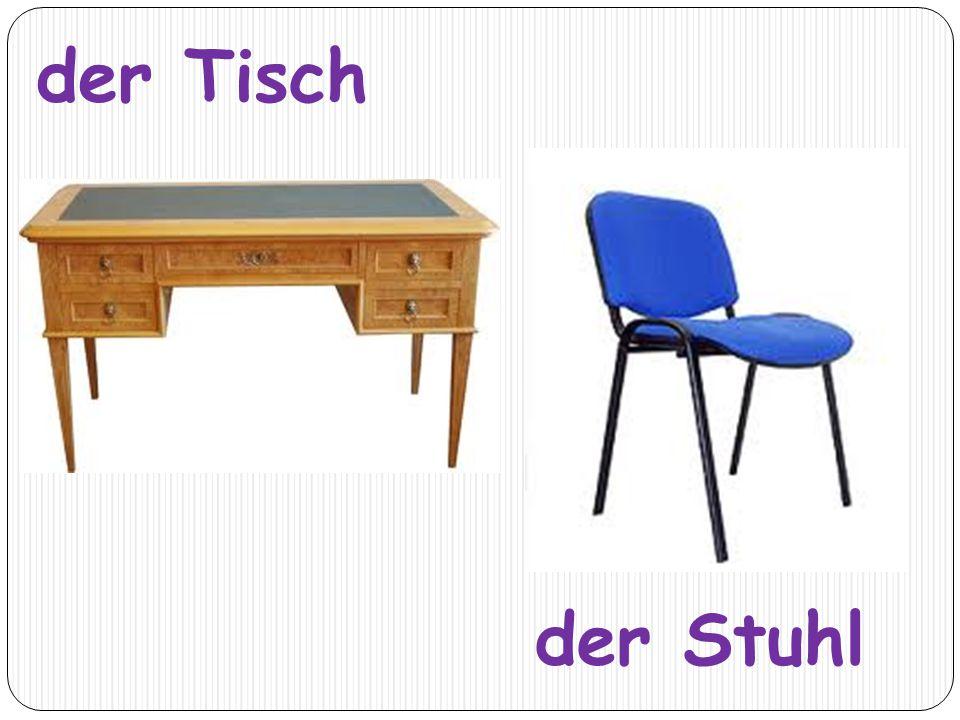 der Tisch der Stuhl