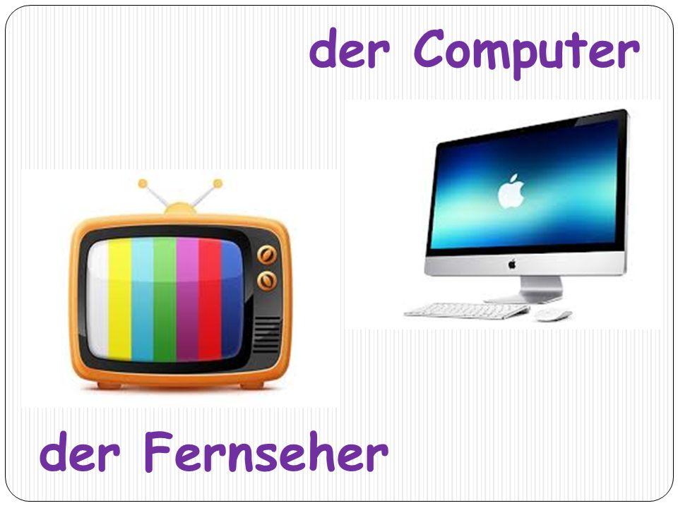 der Fernseher der Computer