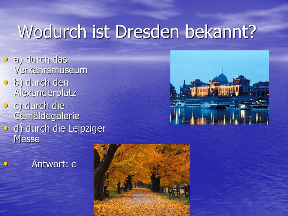 Wo fand 1945-1946 ein internationales Gericht statt, in dem die Anführer des faschistischen Deutschland verurteilt wurden? a) Nürnberg b b) Dresden c)