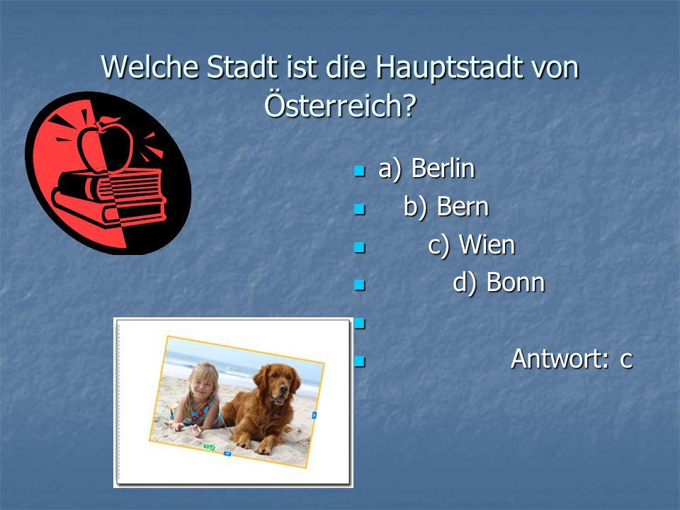 Welche Stadt nennt man die Stadt der deutschen Literatur und Musik, die Stadt der deutschen Klassik, Goethe-und-Schiller-Stadt? a) Nürnberg a) Nürnber
