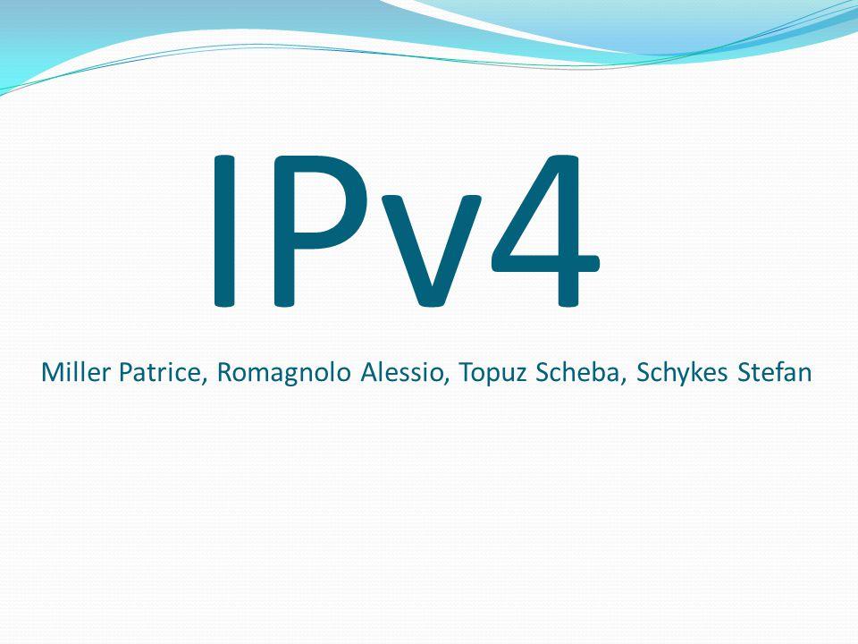 Aufbau Die IPv4-Adressen bestehen aus 32Bits.