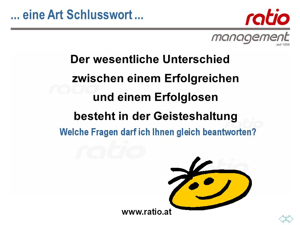 www.ratio.at... eine Art Schlusswort...